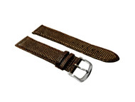 Strap, Lizard Print with Stitching, Brown