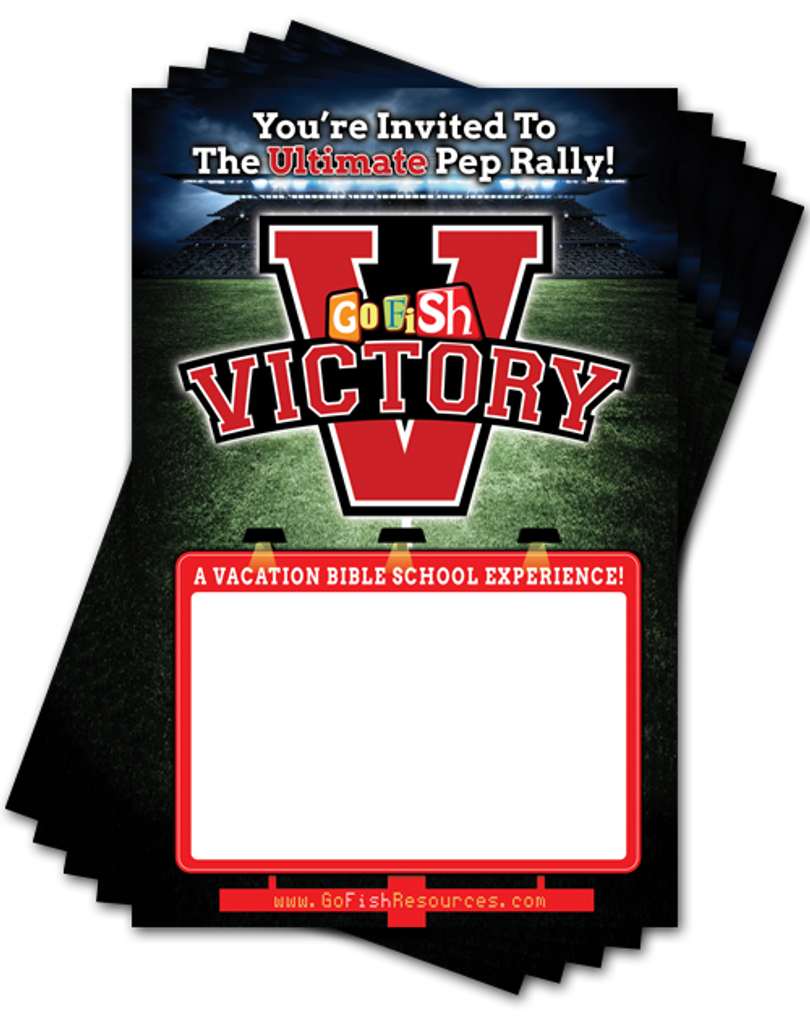 Promoting your event is a breeze with the five 11x17 inch promotional posters included in your kit.