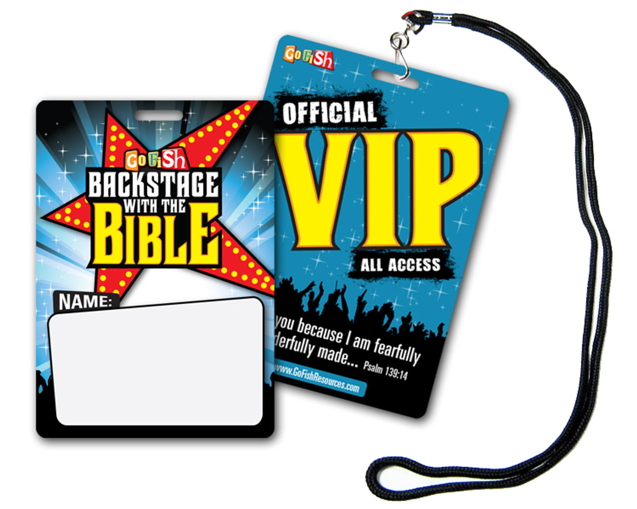 Backstage With The Bible VIP Pass & Lanyards (20-pack)
