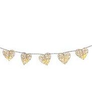 White Rattan Heart Fairy Lights Wedding Engagement event party