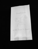 Wedding Anniversary Bonbonniere Cake Bags - Silver Doves - food grade