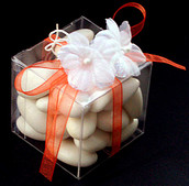 PVC 7cm Square Gift Box - Wedding Bomboniere Cup Cake - Corporate Give Away