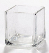 Square cube 5cm Clear Glass Tealight Votive Candle Holder