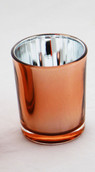 Copper Glass tealight votive candle holder wedding function event decor