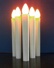 LED Taper candle white for candelabra - safe hold - concert, church, vigil
