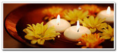 8cm Ivory Wax Floating Candles