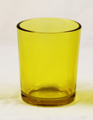 Yellow Glass Cup Holder
