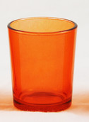 Orange Glass Candle Holder