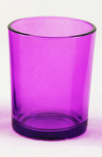Purple Violet Lavender Glass Holder