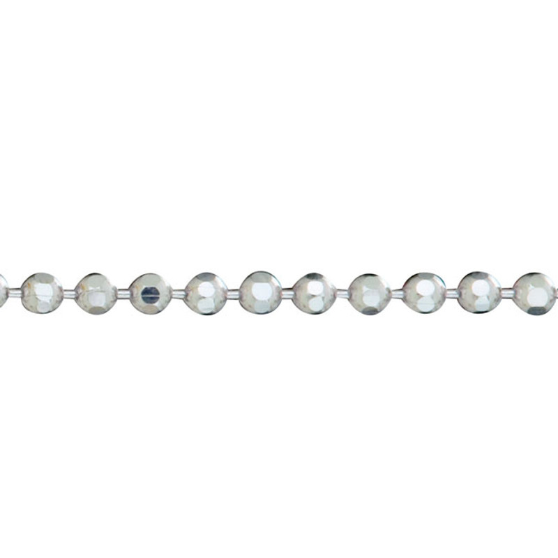 Heavy Sparkly Ball Chain Sterling Silver