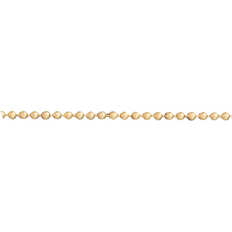 Tiny Ball Chain 14kt Yellow, Pink or White Gold