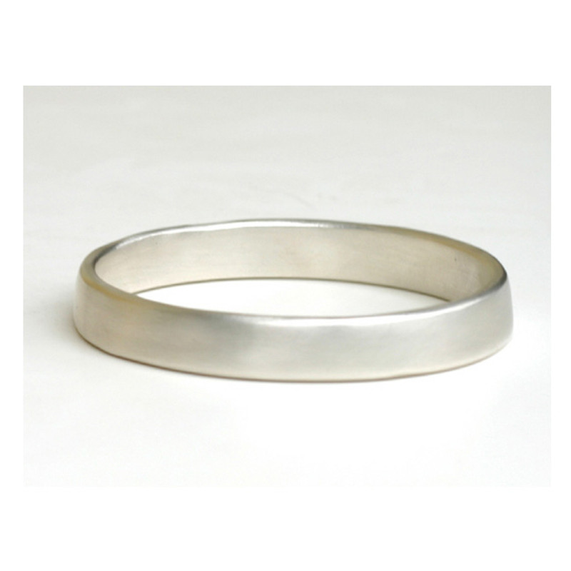 Chunky Sterling Silver Sculpted Bangle Bracelet