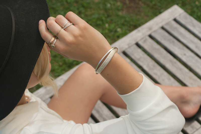 Chunky Sterling Silver Sculpted Cuff Bracelet Personalized