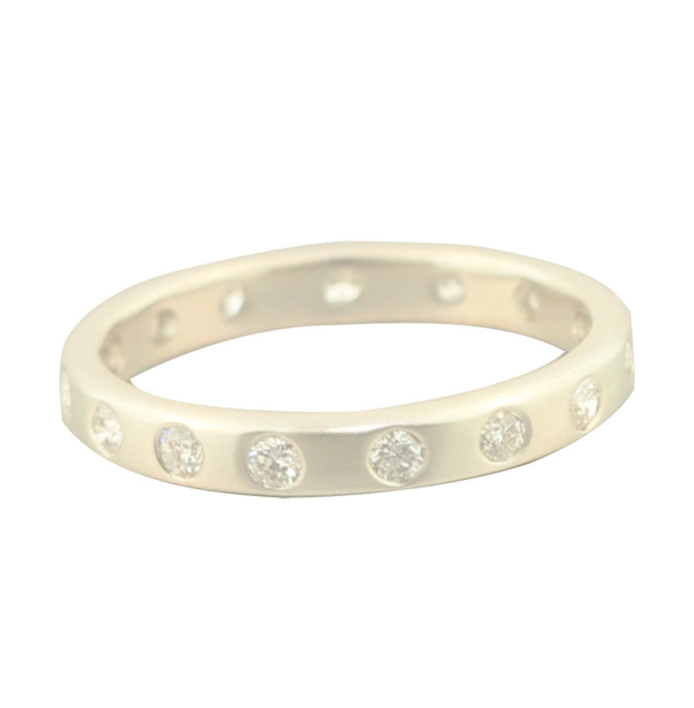 Stackable Medium 2.5mm Ring Band Silver or Gold Personalized