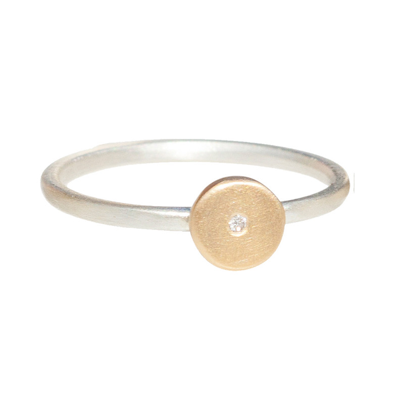 Itty Bitty Disc Stackable Ring Personalized