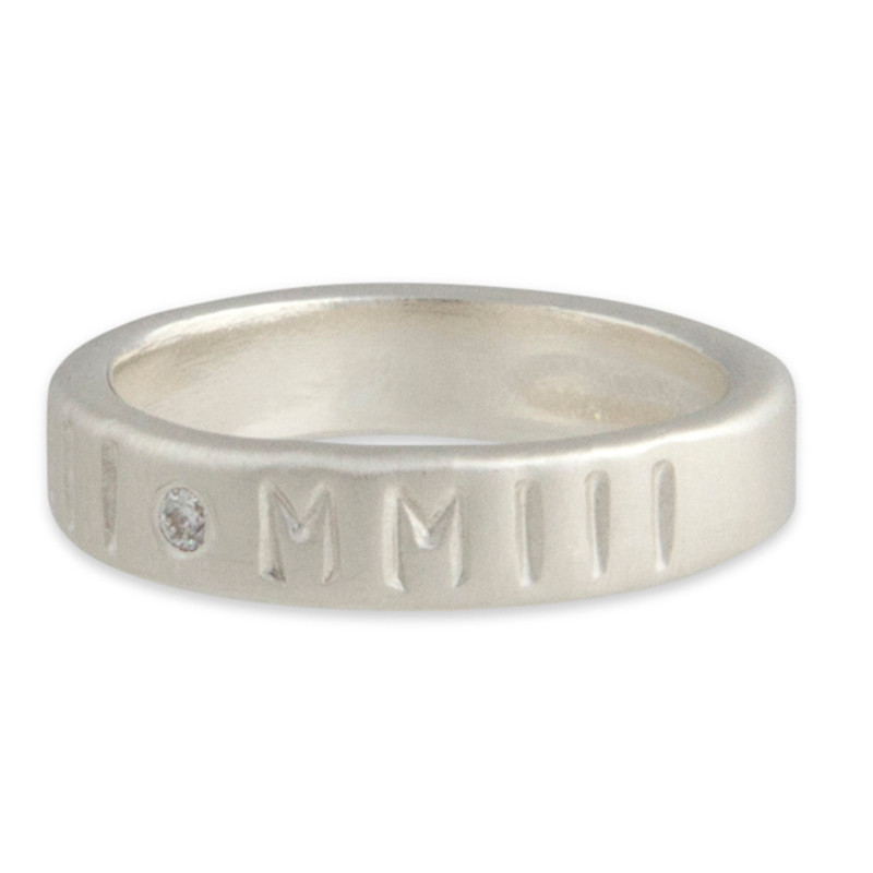 Stackable 4mm Ring Band Personalized