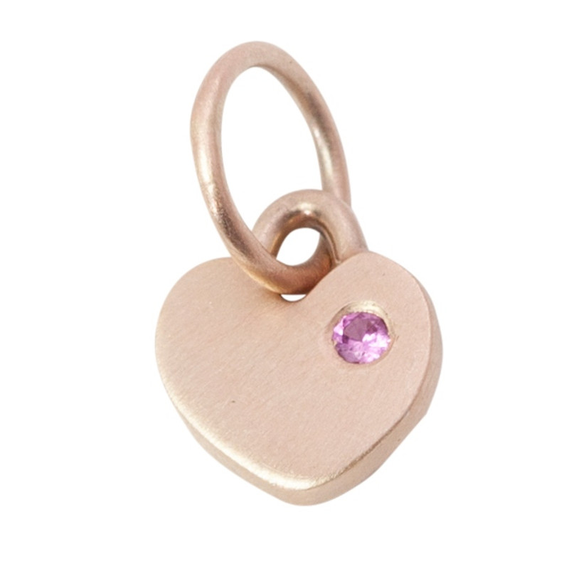 Itty Bitty Heart Charm Silver or Gold Personalized