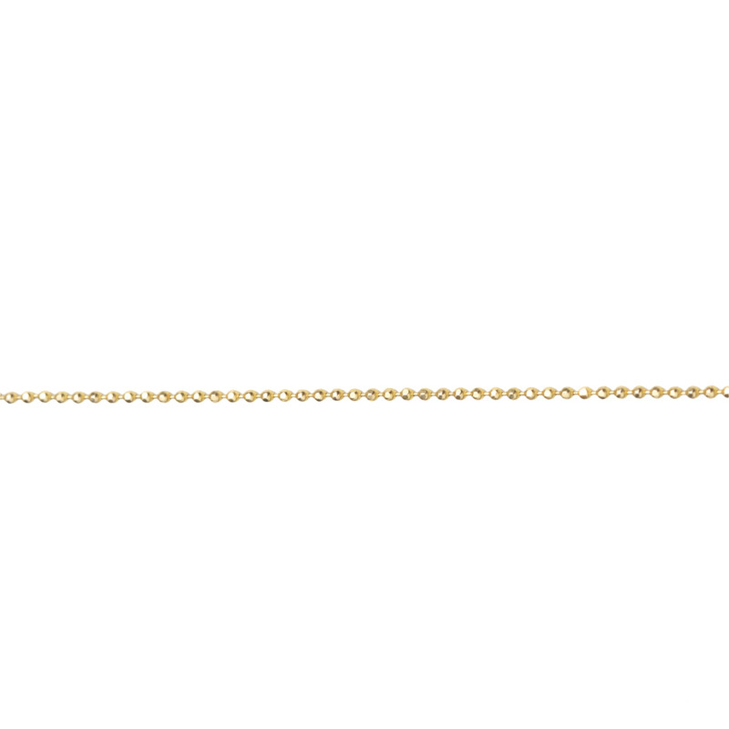 NEW! Itty Bitty Delicate Sparkly Ball Chain 14kt Gold