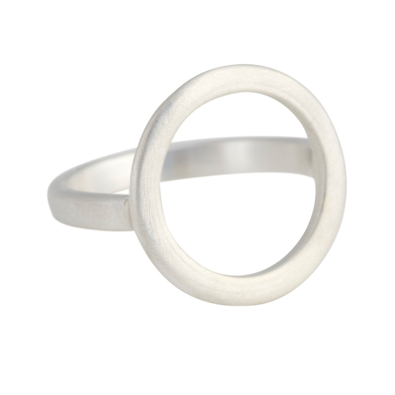Open Circle Ring silver or 14kt gold personalized