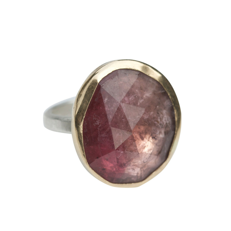 Sparkling Pink Tourmaline Cocktail Ring