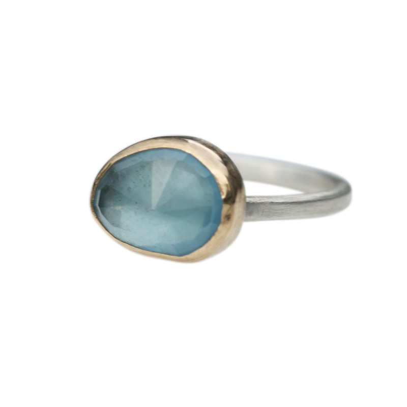 Aquamarine Stackable Cocktail Ring