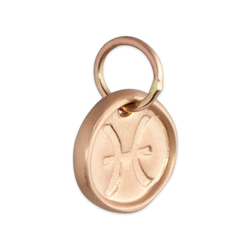 Pink Gold Pisces Tiny Disc