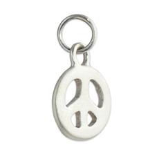 Peace Sign Charm Silver or Gold Personalized