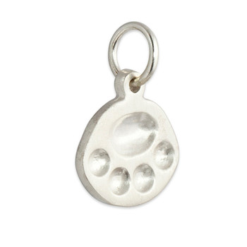 paw charm personalized in sterling silver and 14kt yellow