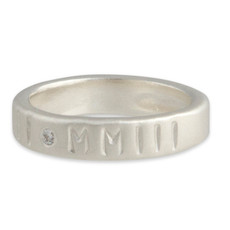 Stackable Personalized 4mm Ring Band