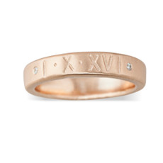 Stackable Personalized 4mm Ring Band Personalized