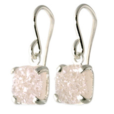 Druzy Dangly Earrings Silver or Gold