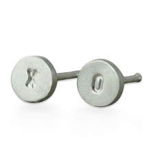 Itty Bitty Disc Stud Earrings Silver or Gold Personalized