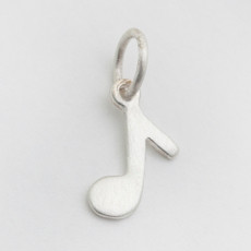 Itty Bitty Music Note Charm Silver or Gold