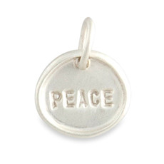 Tiny Disc Charm Silver or Gold