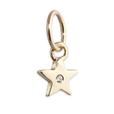 Itty Bitty Star Charm Silver or Gold Personalized