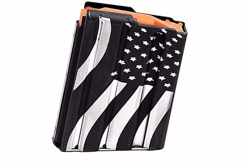 ASC AR15 10-Round Magazine 5.56/223/300BLK Enhanced Stainless Steel - American Flag