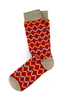 Xhosa-Inspired Curved Diamond Print Socks