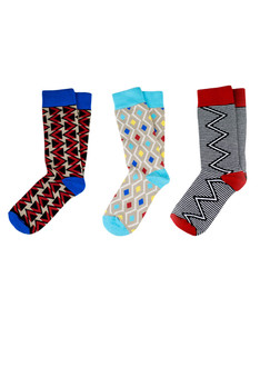 3 Pack Xhosa-Inspired Pattern Socks