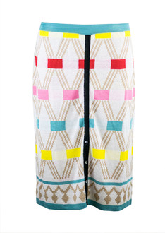 White/Brown Xhosa Pattern Skirt