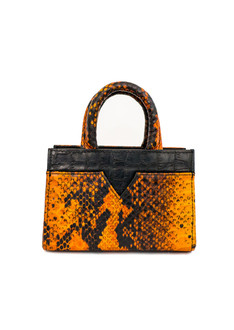 Orange Structure Mini Tote