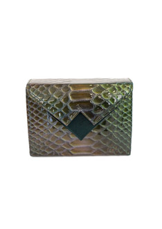Croc-effect Mini Box Clutch