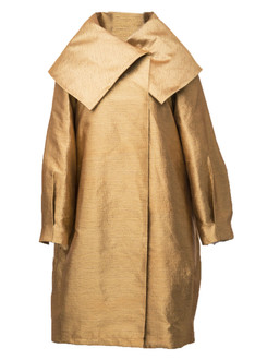 Gold jacquard coat