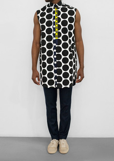 MEDJERA sleevesless polka dot Shirt