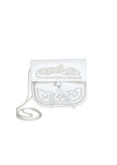 White mini berber bag