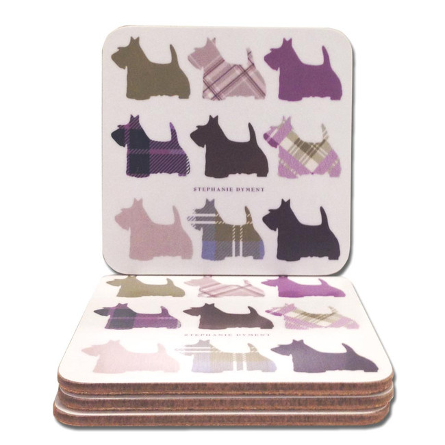 Tartan Scottie Dogs Coasters
