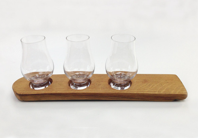 Whisky Barrel Holder for Three Glasses