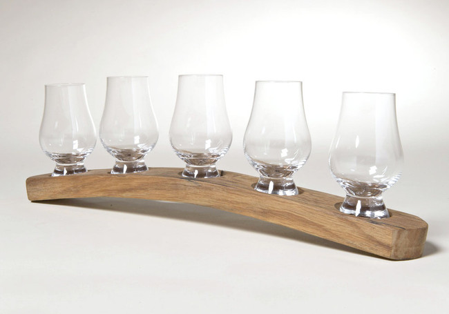 Whisky Barrel Holder for Five Glasses