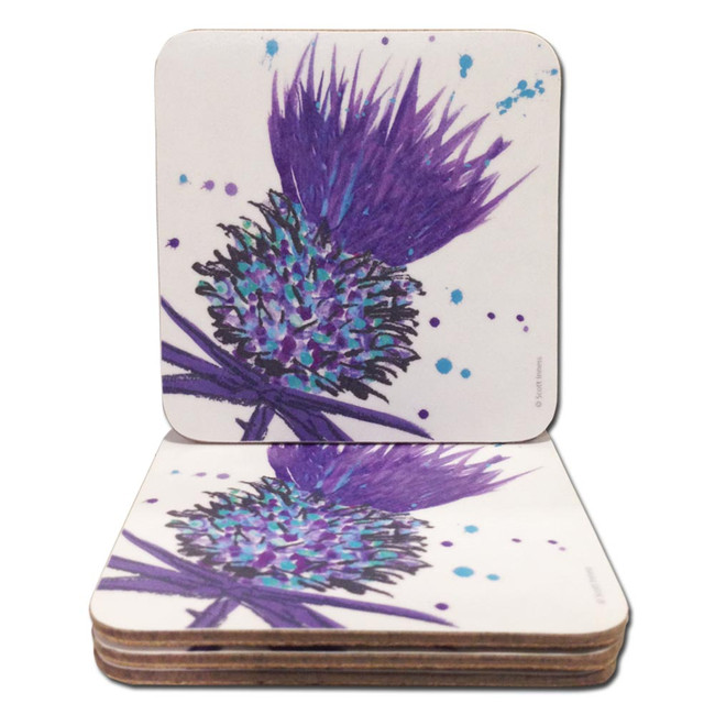 Scottish Thistle Coasters