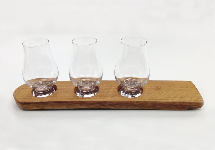 Whisky Barrel Holder for Three Glasses