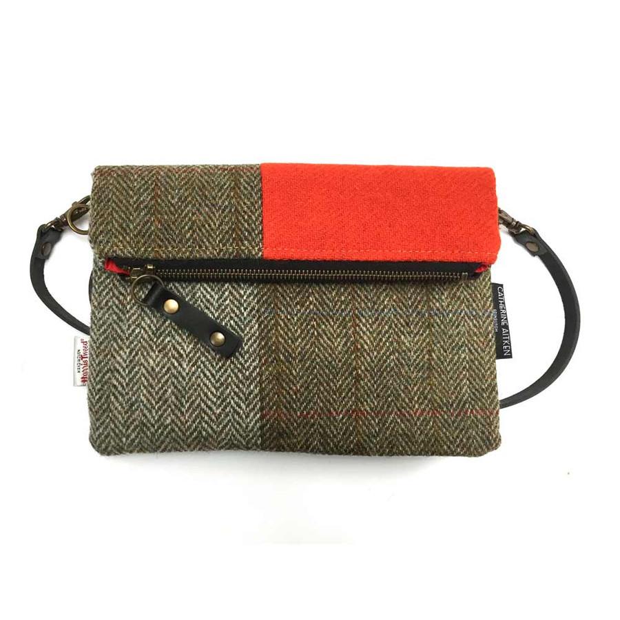Voyager Clutch Bag in Harris Tweed